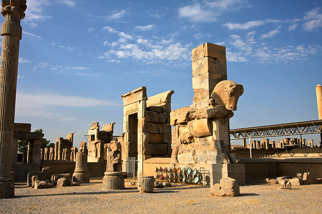 The gates to the palace at Persopolis.  Source: http://flic.kr/p/8qQGtm