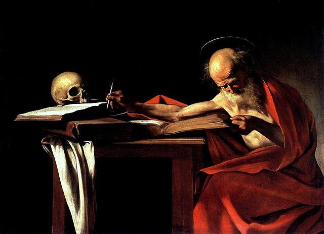 "Caravaggio, ""St. Jerome Writing."""